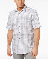 Alfani Men's Slim Fit Plaid Shirt, Only at Macy's