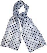 Private Label White Black Polka Dot Fashion Scarves