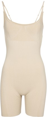 Jacquemus Le Body Short ribbed-knit playsuit
