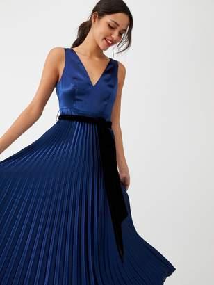Very Satin Pleated Maxi Dress - Navy