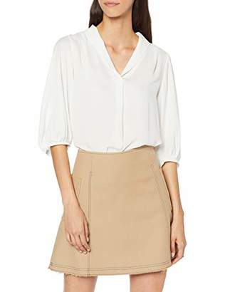 Selected Women's Slfdylana 3/4 Top B Blouse, Beige Creme, (Size: 40)