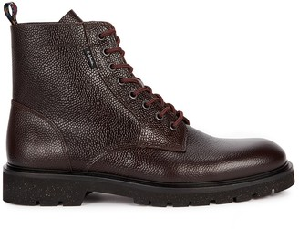 Paul Smith Fowler dark brown leather ankle boots