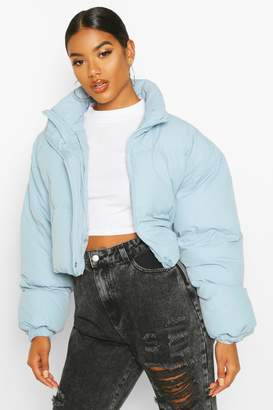 boohoo Funnel Neck Cropped Puffer Jacket