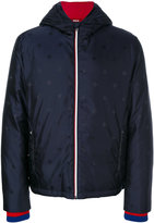 Gucci bee and star embroidered padded jacket - men - Polyamide - 46