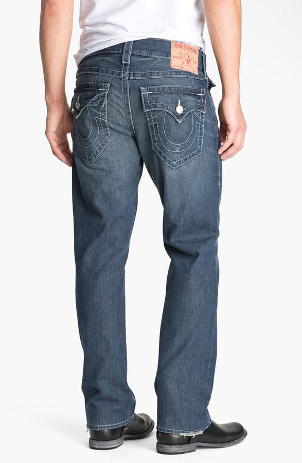 True Religion Brand Jeans 'Ricky - Natural' Straight Leg Jeans (Surfer Dark)