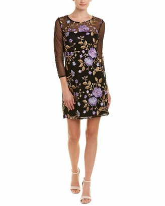 Jack by BB Dakota Women's Jaelyn Embroidered Mesh Dress
