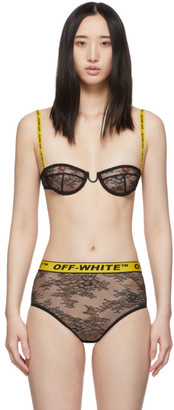 Off-White Black Lace Industrial 50s Lingerie Set