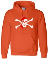 Go All Out Screenprinting Adult Jolly Roger Skull And Crossbones Pirate Flag Sweatshirt Hoodie