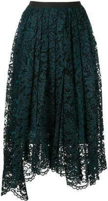 Antonio Marras Pleated Lace Skirt