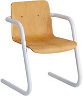 Rejuvenation Cantilever Plywood School Chair w/ White Base