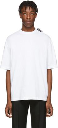 Balenciaga White Logo Tab T-Shirt