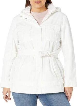 Rachel Roy Women's Plus Size Belted Safari Jacket with Breast Pockets
