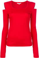 Helmut Lang cold shoulder top