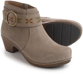 Dansko Mina Embroidered Ankle Strap Booties - Nubuck, Side Zip (For Women)