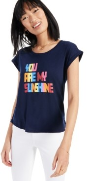 Style&Co. Style & Co You Are My Sunshine Graphic T-Shirt, Created for Macy's