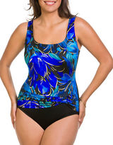 Longitude Floral Pleated One-Piece Swimsuit