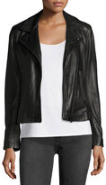 IRO Han Leather Motor Jacket, Black
