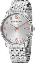 Stuhrling Original Original 413.33112 39mm Silver Steel Bracelet & Case krysterna Men's Watch