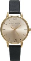 Olivia Burton OB14MD20 midi dial gold-plated and leather watch