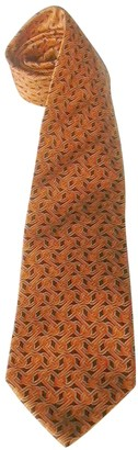 Balenciaga Orange Silk Ties