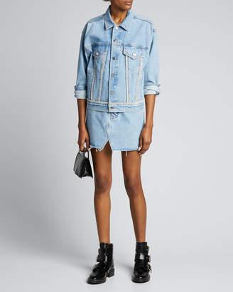 GRLFRND Kim Light-Wash Denim Jacket