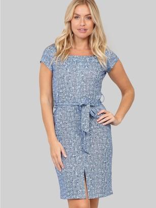 M&Co Izabel tie waist shift dress