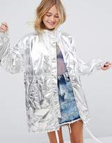 Monki Metallic Anorak Jacket