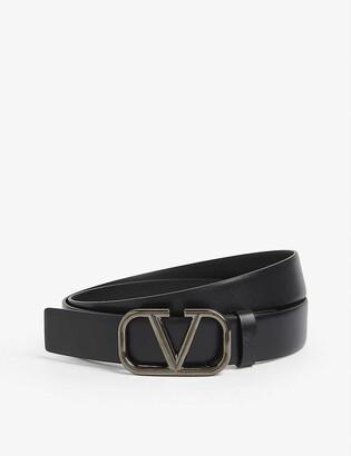 Valentino V-ring logo belt