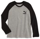 Puma Boy's Logo Raglan Sleeve T-Shirt