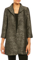 Eileen Fisher Open Front Jacquard Coat