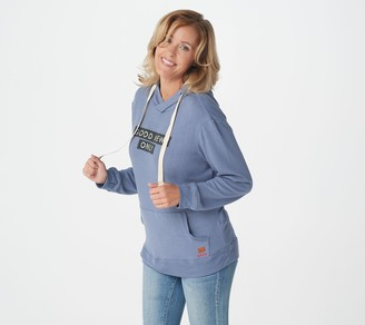 Peace Love World Comfy Knit Hooded Sweatshirt