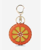 Express orange keychain and bag charm