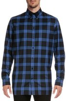 Givenchy Columbian-Fit Plaid Long-Sleeve Shirt, Blue