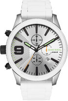 Diesel Men's Chronograph Rasp Chrono White Silicone & Stainless Steel Bracelet Watch 50mm