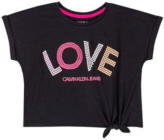 Calvin Klein Calvin Klein Girls' Tie Front Tee Shirt