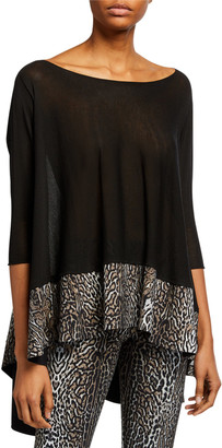 Chiara Boni M Zhenya Printed-Hem High-Low Top