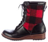 Matt Bernson Windsor Plaid Ankle Boots