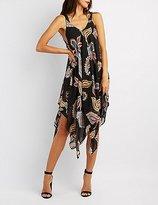 Charlotte Russe Paisley Handkerchief Maxi Dress
