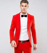 Asos TALL Super Skinny Suit Jacket in Tomato Red