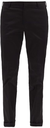 Paul Smith Cotton-blend Twill Slim Chino Trousers - Black