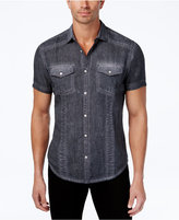 INC International Concepts Men's Vintage Linen-Blend Shirt, Created for Macy's