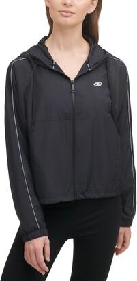 DKNY Colorblock Hooded Windbreaker Jacket