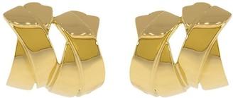 Verdura 18kt yellow gold double X clip earrings