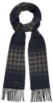 J By Jasper Conran Designer Blue Large Dogtooth Check Scarf