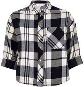 River Island Womens Black check grazer shirt