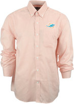 Cutter & Buck Men's Miami Dolphins Tattersall Dress Shirt