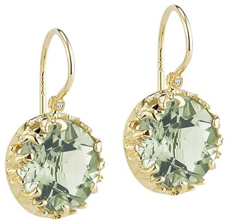I. Reiss Color Collection 14K 2.78 Ct. Tw. Diamond & Green Amethyst Earrings
