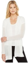 Ellen Tracy Drape Front Pointelle Cardigan Women's Sweater