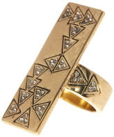House Of Harlow Hieroglyphics Statement Ring - Size 7
