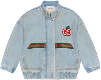 Gucci Children's denim jacket with GG apple